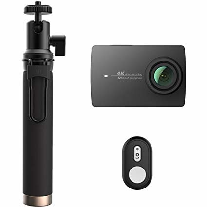 YI 4K ACTION CAMERA WITH SELFIE STICKER (BLACK) GLOBAL